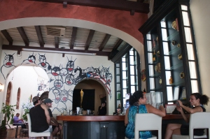A restaurant we went to in San Juan. It was really nice.