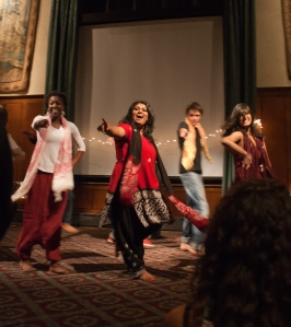 One of my roommates, Achini, dancing a piece she choreographed for Diwali.