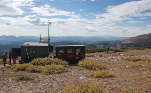 A smaller research station on the way up to the Niwot Ridge Research Station looking at atmosphere gas composition.